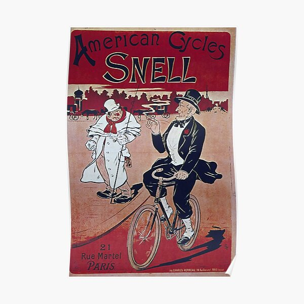 Reproduction Cycling event advertising poster Ride With Wall art.