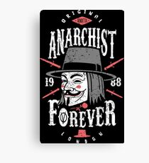 Anarchist Forever Canvas Print