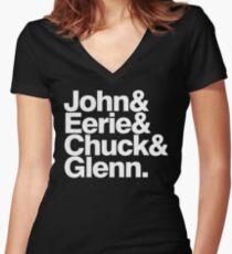 Danzig memember list ampersand shirt Women's Fitted V-Neck T-Shirt