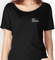 Special Forces, AMERICAN, ARMY, Soldier, American Military, Arm Flag, US Military,  USA, Flag, Reverse side flag, on BLACK Women's Relaxed Fit T-Shirt
