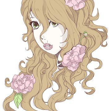 Peony Blossoms by honeneko