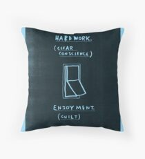 Either / or Throw Pillow