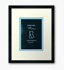 Either / or Framed Print