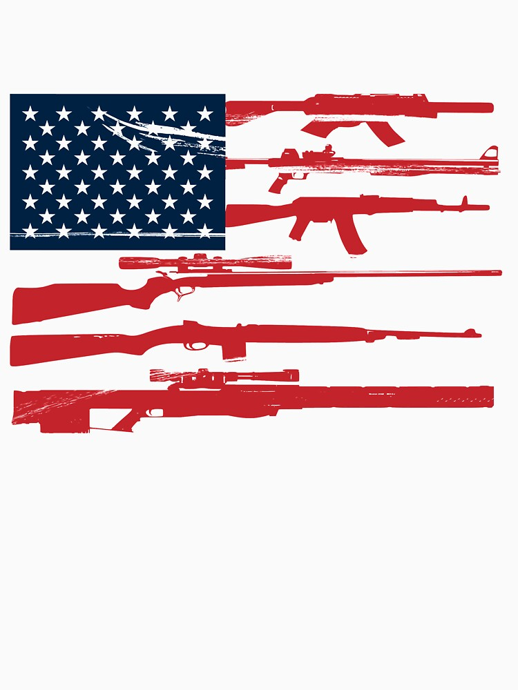 Support 2nd Amendment Gun Rights American Flag by Katnovations