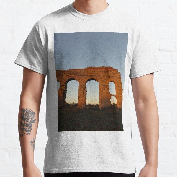 PHOTOGRAPHY ROMAN AQUEDUCT HISTORY Classic T-Shirt