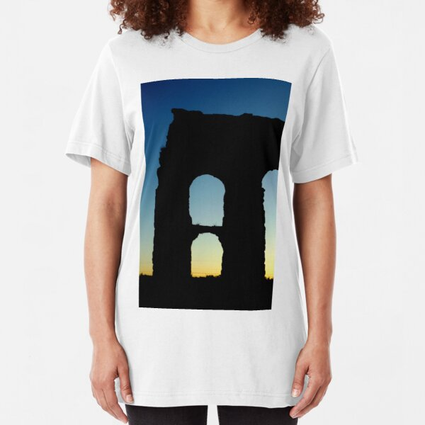 PHOTOGRAPHY ITALY; ROMAN AQUEDUCT Slim Fit T-Shirt