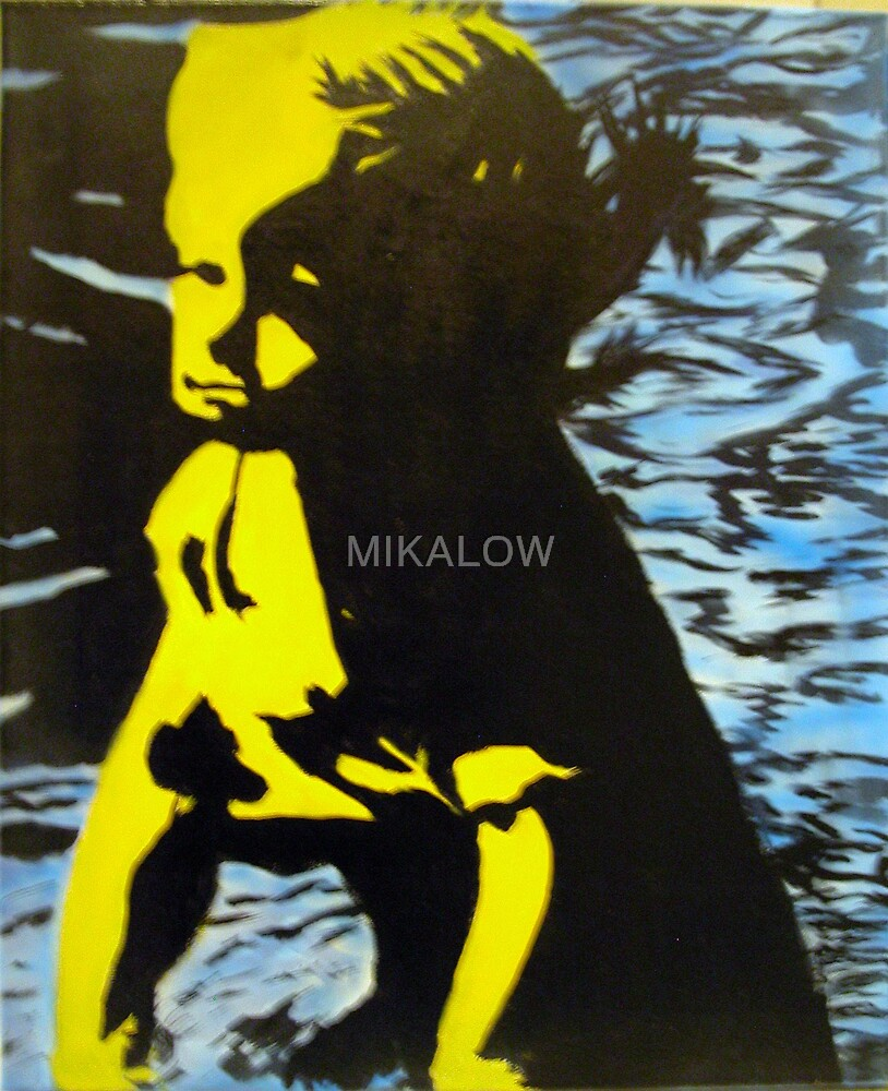 Girl in Pooll by MIKALOW