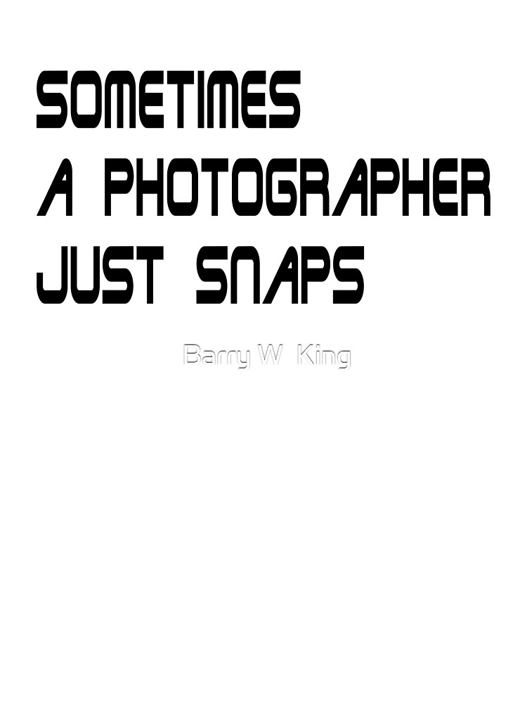 sometimes a photographer just snaps - Redux by Barry W  King