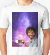 Bob Ross Paints Space T-Shirt