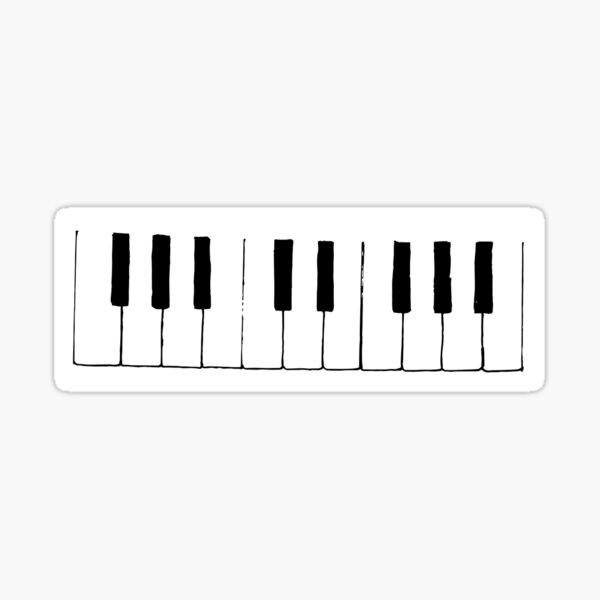 simple piano Sticker