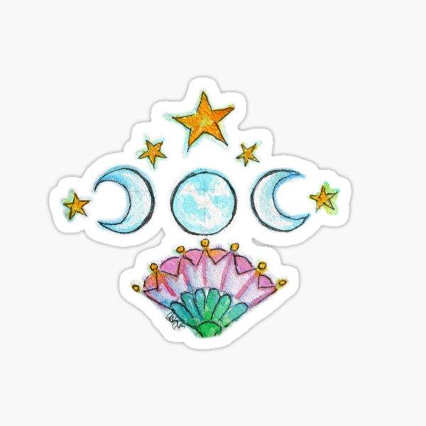 3 Moons Flowering Sticker