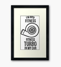 fitness turbo  Framed Print