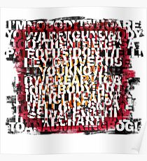 Poetry Abstraction Poster