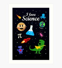 I Love Science Art Print