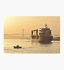 Cargo Ship in harbour Photographic Print