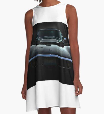 Black Stingray A-Line Dress