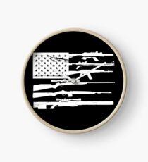Reloj Soporte Dark 2nd Amendment Gun Rights Bandera estadounidense