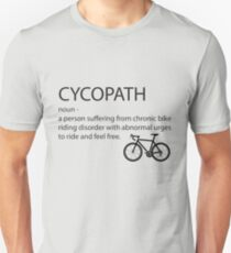 Cycopath Noun - Funny Cycling Design T-Shirt