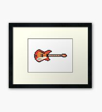 Pixel 360 12-String Guitar Framed Print