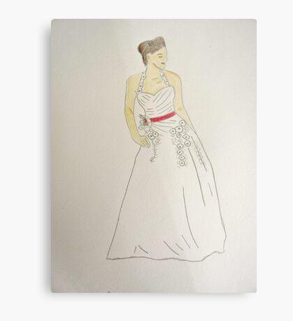 Wedding Dress No 5 Metal Print