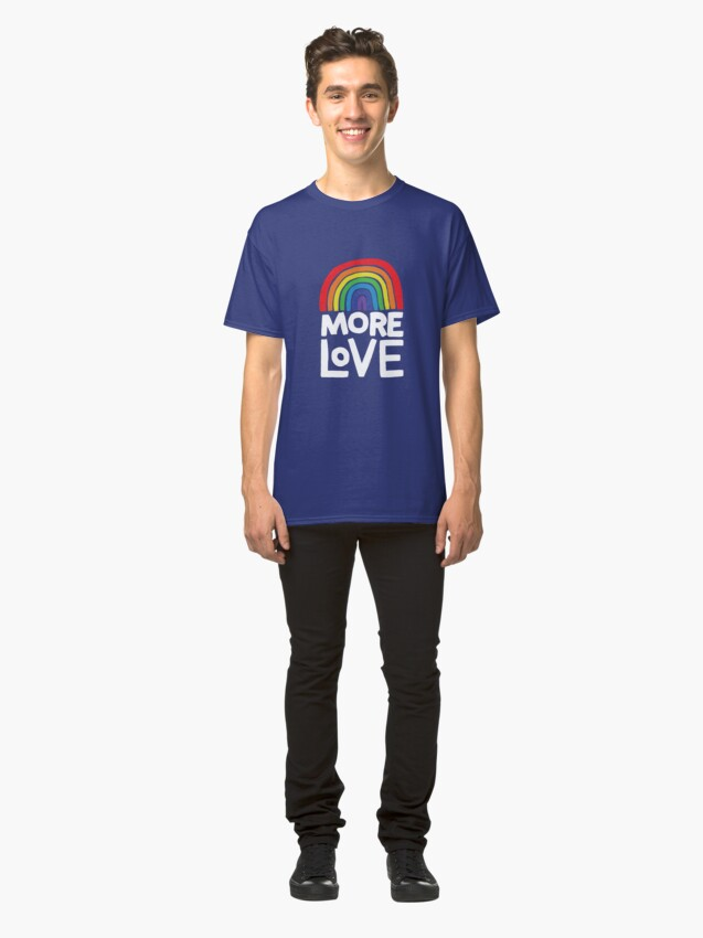 Alternate view of more love Classic T-Shirt