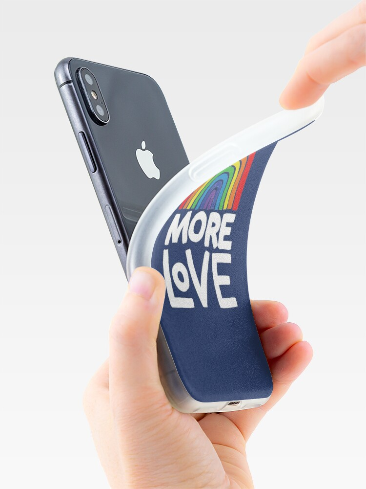 Alternate view of more love iPhone Case & Cover