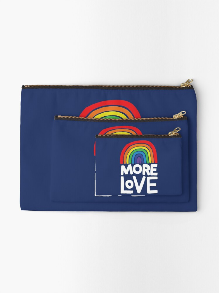 Alternate view of more love Zipper Pouch