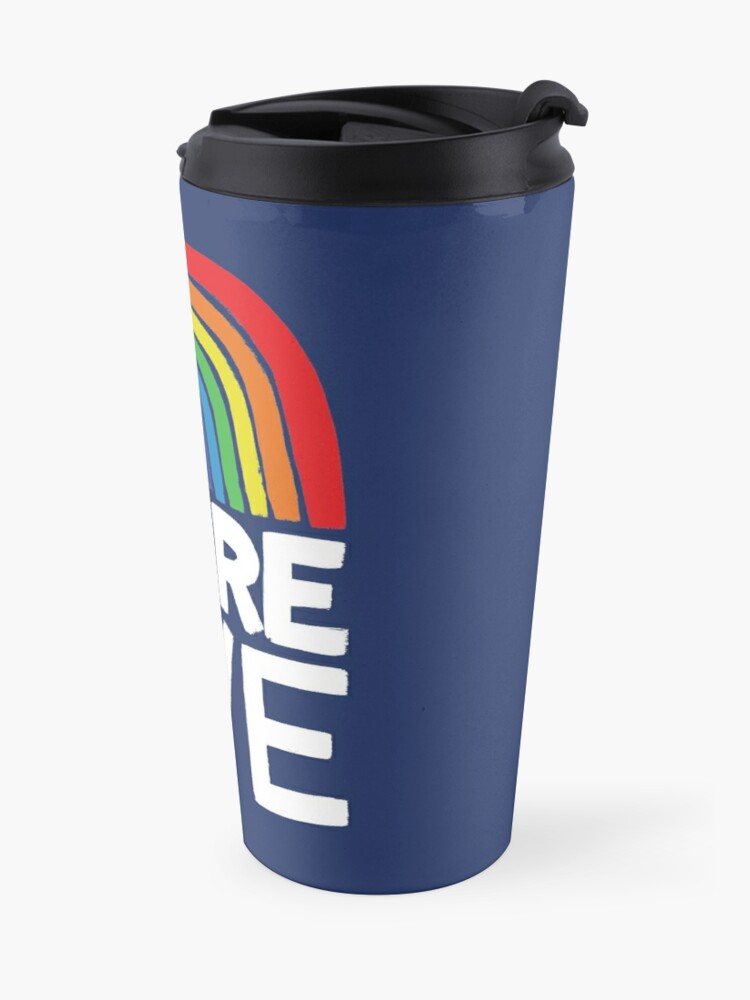 Alternate view of more love Travel Mug