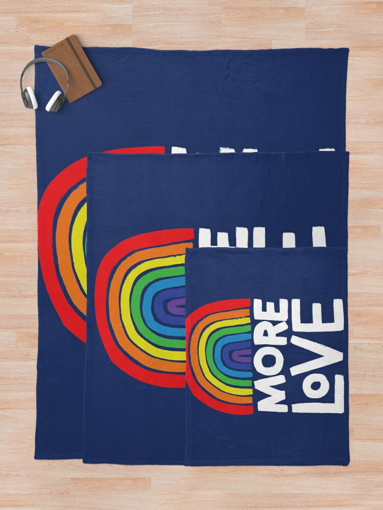 Alternate view of more love Throw Blanket