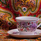 tea cup with floral ornament by mrivserg