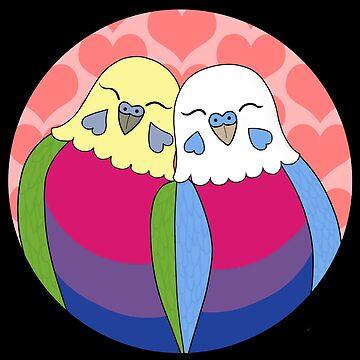 Bisexual Pride Parakeets by Shadowfudo