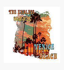 The Endless Summer - Venice Beach  Photographic Print