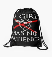 A Girl Has No Patience for Trump Drawstring Bag