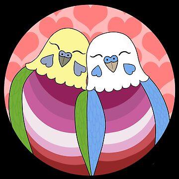 Lesbian Pride Parakeets by Shadowfudo