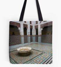 Cat in Medressa in Meknes Morocco Tote Bag