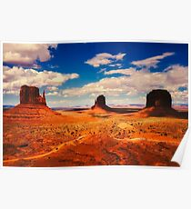 Arizona Mountain Valley  Poster