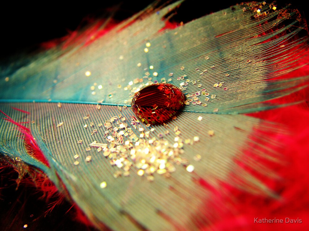 Red Waterdrop. by Katherine Davis