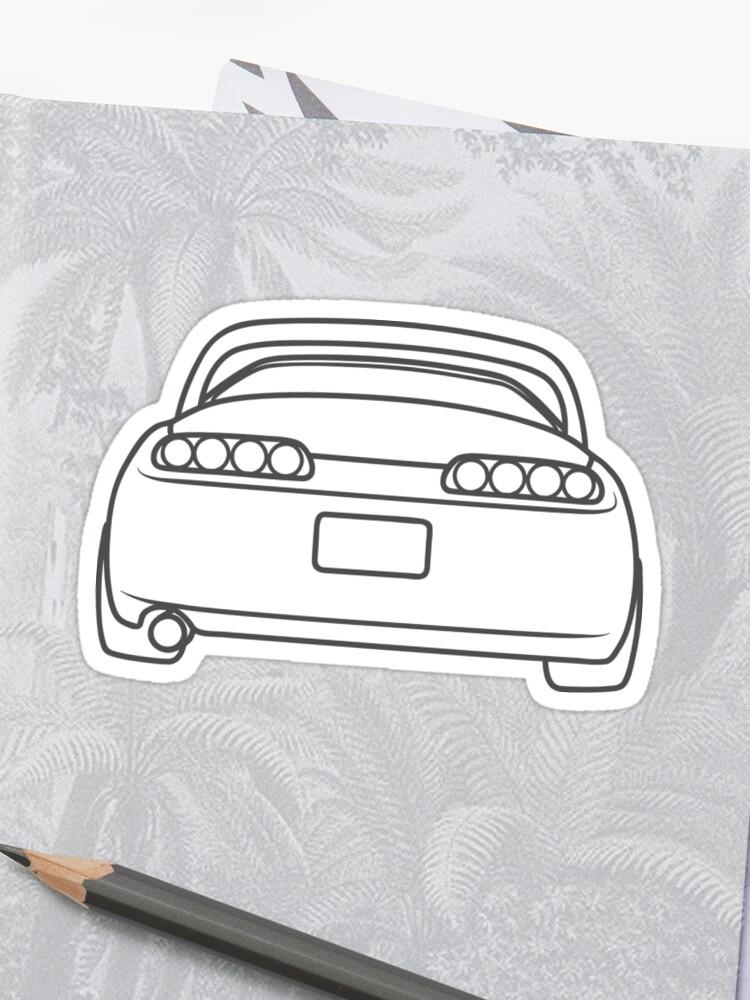 simple supra rear - white | Stickers