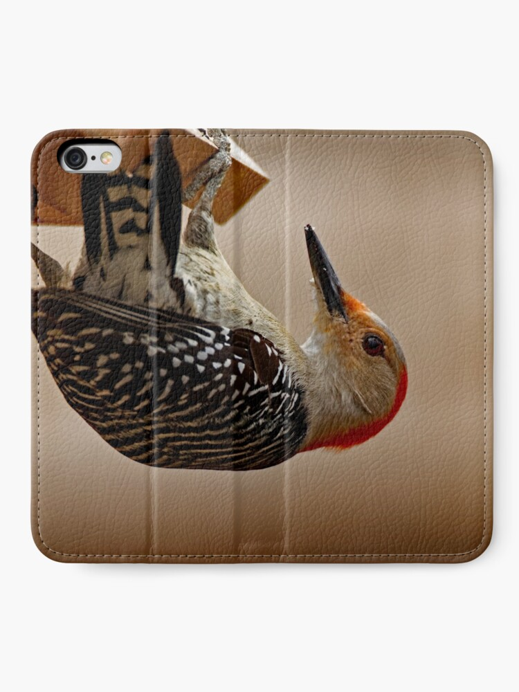 Alternate view of Red-Bellied Woodpecker on a Feeder iPhone Wallet