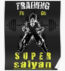 Training To Go Super Saiyan - Goku Poster