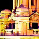 Melbourne City lights on Flinders by Rosina  Lamberti