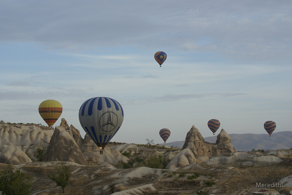 Balloons at sunrise by MeredithL