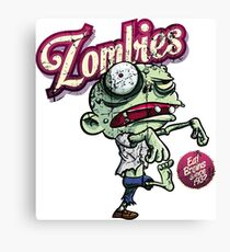 Zombies eat brains Canvas Print