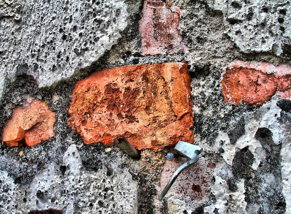 Nail in Brick Wall by NawfalNur