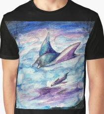 Up in the Clouds (is a Giant Manta Ray) Graphic T-Shirt