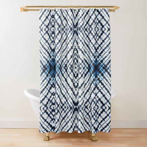 Diamonds Indigo Shower Curtain