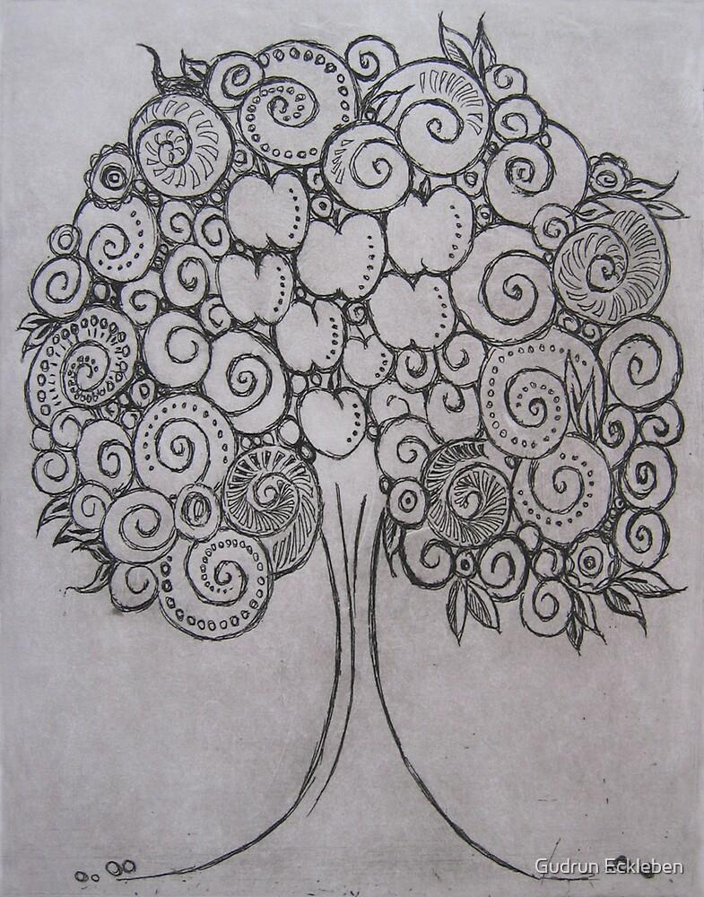 Shell Tree by Gudrun Eckleben