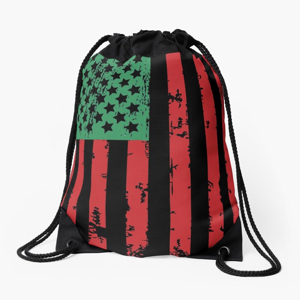 Juneteenth Flag Drawstring Bag