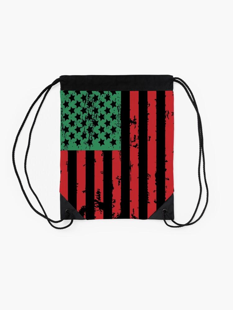 Alternate view of Juneteenth Flag Drawstring Bag