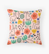 First Garden Throw Pillow